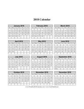 printable calendar vertical 2018 printable 2018 calendar on one page vertical grid