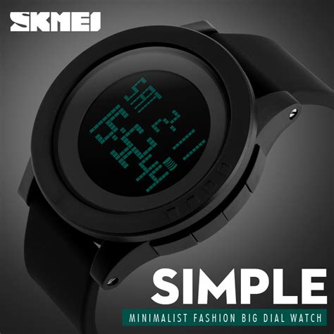 Skmei Sport 1142 Original Water Resistant 50m Hitam Purple skmei 1142 s waterproof led chronograph digital alarm sport black colour