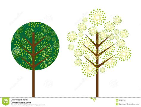 cute trees cute tree stock image image 21427961