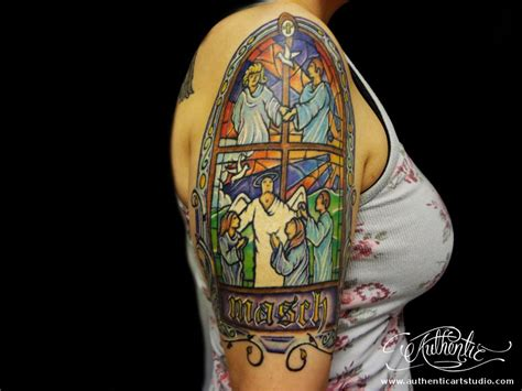 stained glass cross tattoo stained glass king and tattoos 187 ideas