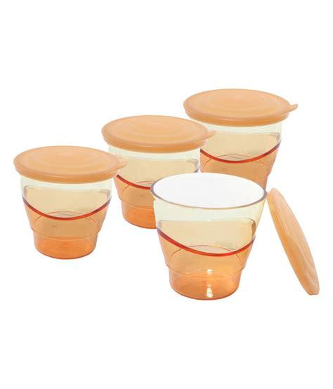 tupperware orange eleganzia tumblers set of 4 buy