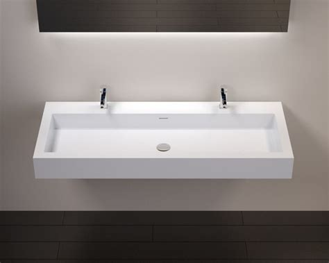 rectangular modern resin wall mounted sink wt 06