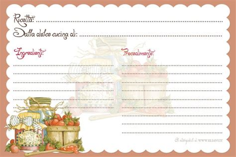 ricettario cucina 328 best images about recipe card on printable
