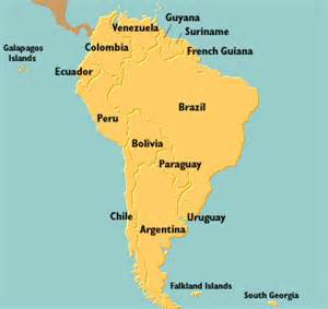 current map of south america world war ii