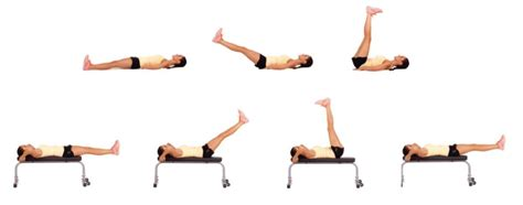 lying bench leg raise 5 body building exercises that you can do at home trainer