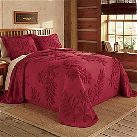 red coverlets red luxury chenille bedspread set new quilts bedspreads