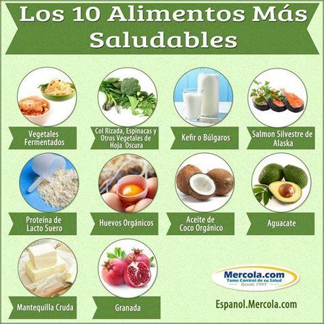 los alimentos no saludables los 10 alimentos m 225 s saludables en espanol pinterest