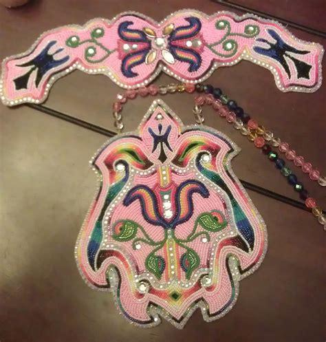 beadwork pink pink s beadwork set in progress www shawneedesignz