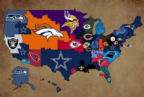nfl usa map these are photoshops college football teams football