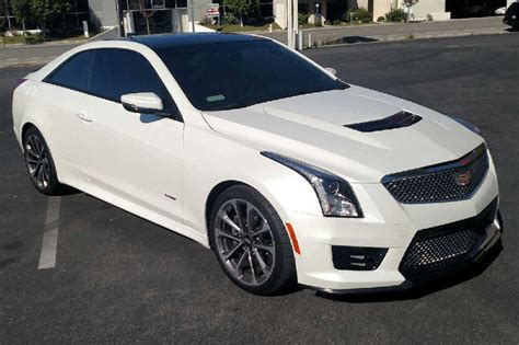 Cadillac Pearl White Paint by Satin Pearl White Cadillac Ats V Wrap Wrapfolio