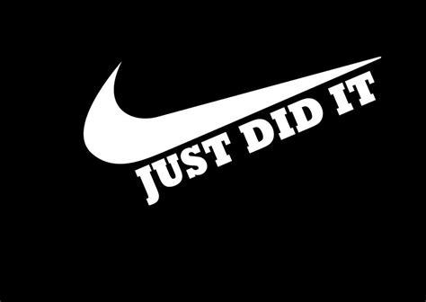 I Just It by Just Did It Tshirt Nike Swoosh Shirt Mens
