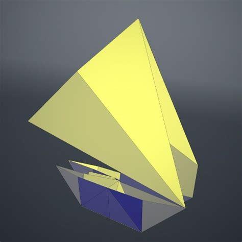 origami boat 3d model obj fbx dae lxo lxl cgtrader
