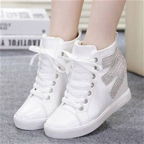 Sepatu Wanita Murah Sepatu Kets Sport Sneakers Wedges High Heels Cewek 938 sepatu kets boots putih wanita model terbaru murah cantik