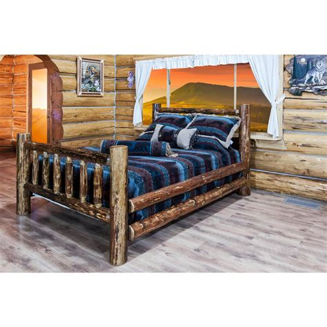 California King Pine Bed Frame Montana Woodworks Glacier Country Medium Brown Puritan Pine California King Bed Frame Mwgccakb