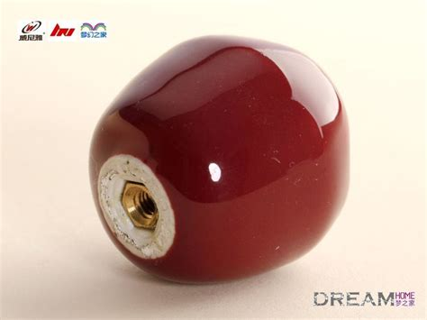Apple Cabinet Knobs by Single Apple Fruit Ceramic Knobs For