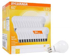 sylvania 24 pack 60w equivalent led light bulbs only $27