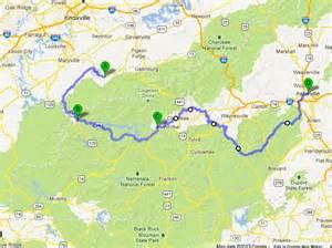 map of the blue ridge parkway www f f info 2017
