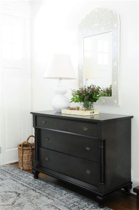 Entryway Dresser Weathered Noir Watson Dresser With Aerin Culloden Table