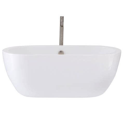 wyndham collection soho freestanding soaking bathtub wyndham collection soho 5 ft center drain soaking tub in