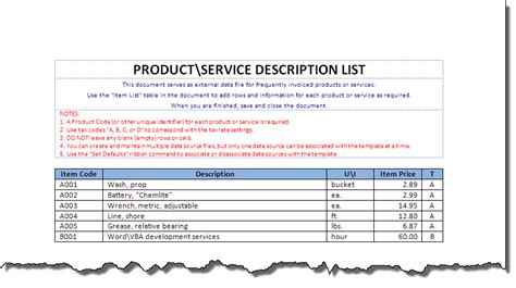 product invoice template invoice automated for word