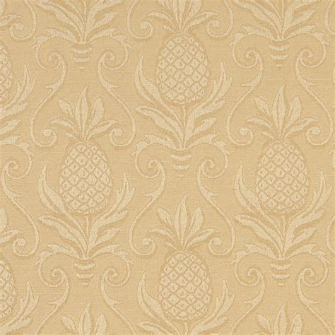 Matelasse Upholstery Fabric by Gold Pineapples Woven Matelasse Upholstery Grade Fabric
