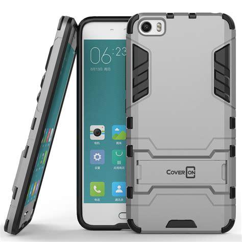 Hybrid Armor Kick Standing Xiaomi Mi5 coveron 174 for xiaomi mi 5 hybrid stand armor dual layer phone cover ebay