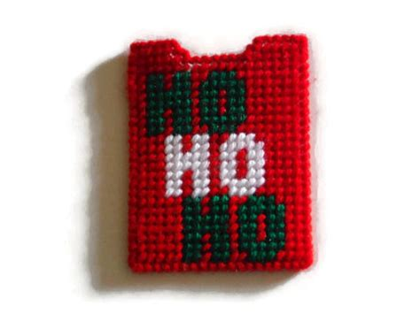 Photo Canvas Gift Card - plastic canvas gift card holder ho ho ho needlepoint case
