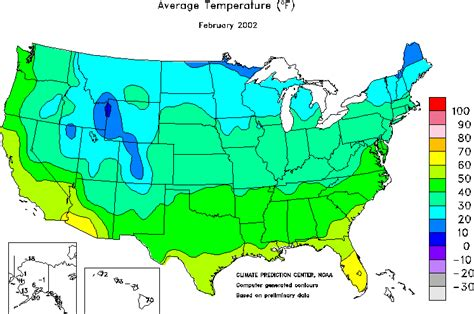 us weather map in february climate prediction center monitoring and data united