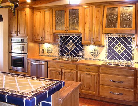 Mexican Tile Backsplash Kitchen Kitchen Project Want Mexican Tiles On Countertop And Backsplash With Saltillo Floor