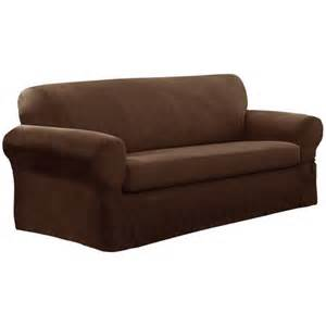 Walmart Loveseat Covers 2 Suede Sofa Slipcover Walmart Ca