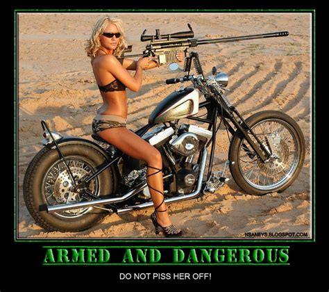 Crotch Rocket Meme - nsaney z posters ii armed and dangerous biker babe