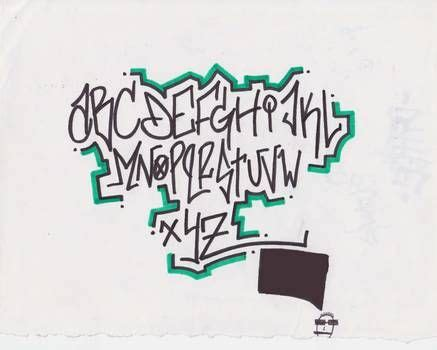 pin  graffiti lettering alphabet