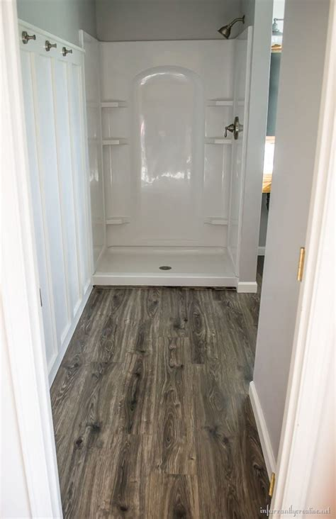 home floor and decor flooring in the bathroom and laundry room
