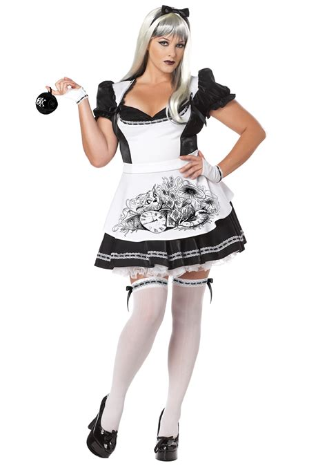 alice in wonderland halloween costume plus size and plus size dark alice costume