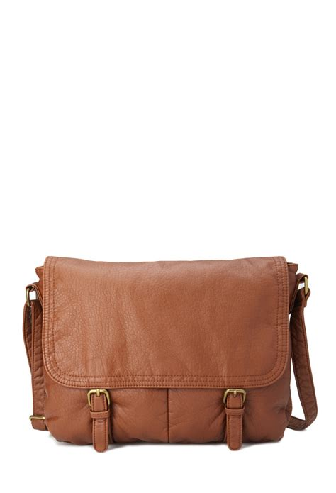 Handbags Wallets C 1 21 by Forever 21 Faux Leather Messenger Bag In Brown Lyst