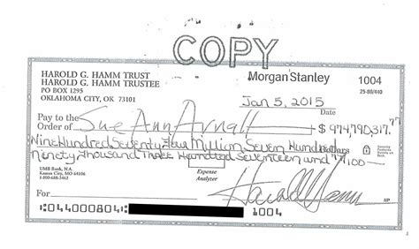 Harold Hamm Sent His Ex Wife A $975 Million Check; She