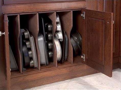 cookie sheet cabinet divider cookie sheet storage rack wood tray dividers for kitchen