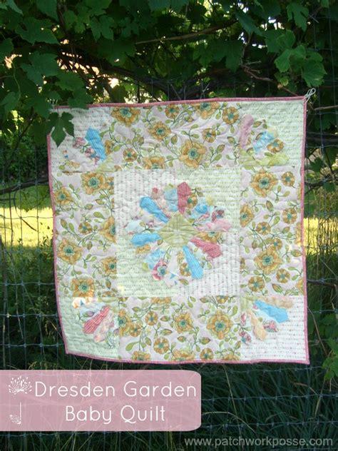 Patchwork Baby Quilt Tutorial - dresden garden baby quilt tutorial
