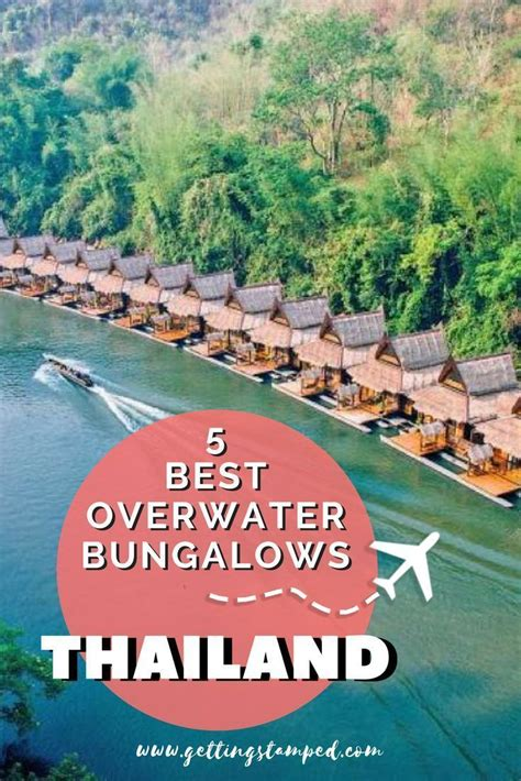 amazing overwater bungalows villas  thailand
