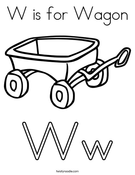 free letter w coloring pages