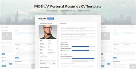 template cv html5 free moticv resume cv html5 template by uouapps themeforest