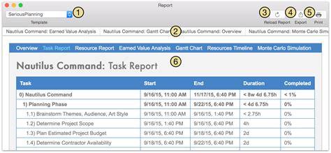 report html template omniplan 3 for mac user manual reporting and printing
