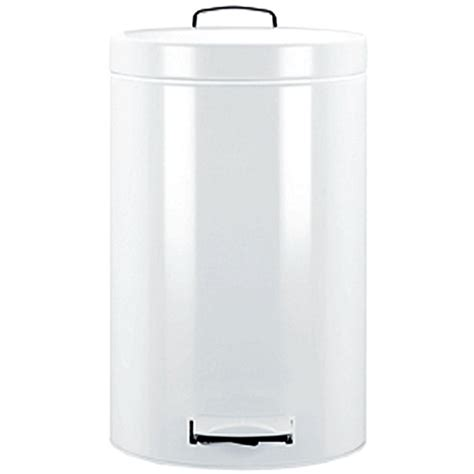 White Kitchen Trash Can by Brabantia Pedal Bin 20l White In Stainless Steel Trash