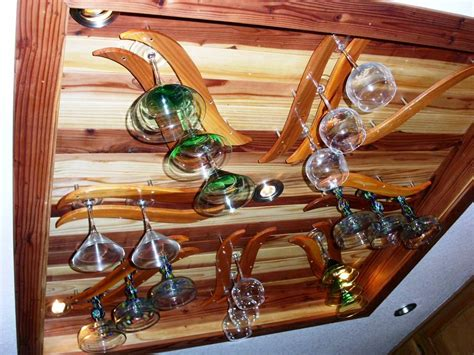 How To Make A Wine Glass Rack by Diy Wine Glass Rack Hanging Type Wedgelog Design