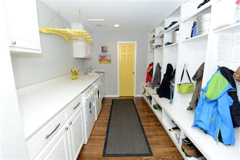 built in drying rack for laundry room built in cubbies laundry room traditional with wood floor wood floor hanging drying rack