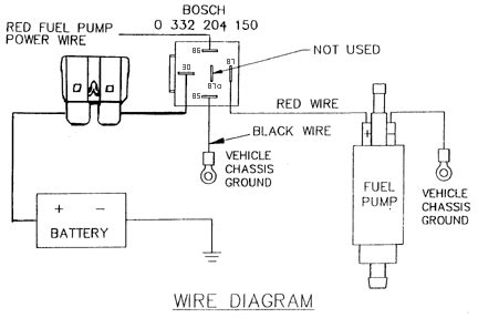 i need some help with wiring a electric fuel pump to my 63