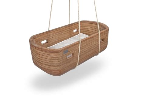 wooden cradle swing noah cradle handcrafted wood crib by vanjoost