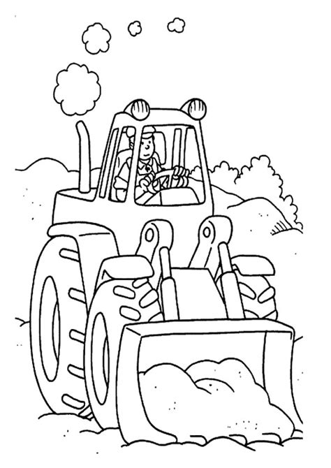 easy tractor coloring page simple tractor coloring pages