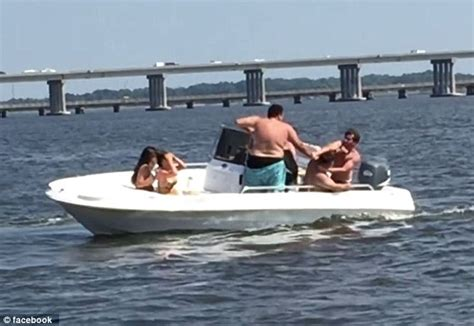 the boat drunks video of brawl breaking out on maryland rental boat on