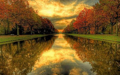 imagenes de paisajes que den paz colorido paisaje de oro en el tranquilo lugar sereno